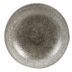 "Churchill Studio Prints Raku Quartz Black Coupe Bowl 9.75"" (12)"