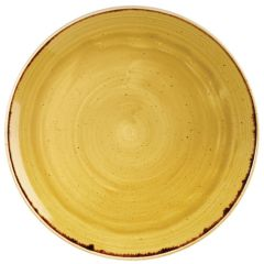 "Churchill Stonecast Mustard Seed Yellow Coupe Plate 12.75"" (6)"