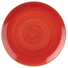 "Churchill Stonecast Berry Red Coupe Plate 12.75"" (6)"