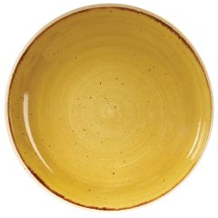 "Churchill Stonecast Mustard Seed Yellow Coupe Bowl 9.75"" (12)"