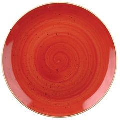 "Churchill Stonecast Berry Red Coupe Bowl 9.75"" (12)"