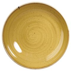 "Churchill Stonecast Mustard Seed Yellow Coupe Plate 6.5"" (12)"