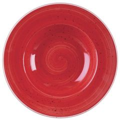 """Churchill Stonecast Berry Red Wide Rim Bowl 9.5"""" (12)"""