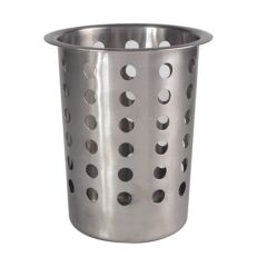 Perforated Stainless Steel Cutlery Cylinder