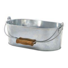 Galvanised Steel Oval Table Caddy