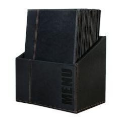 Classic 20 x A4 Black Menu Holders In Box