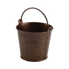 Galvanised Steel Copper Hammered Serving Bucket 10cm.
