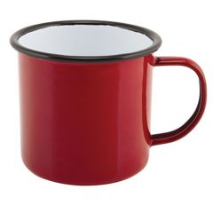 Red Enamel Mug 12.5oz