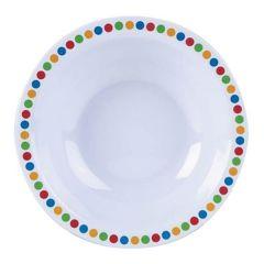 "Coloured Circles Melamine Bowl 6"""