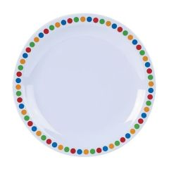 Coloured Circles Melamine Plate 6.25""