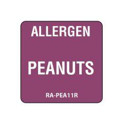 "Peanuts Square Food Allergen Label 1"""
