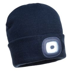 Portwest LED Navy Beanie Hat