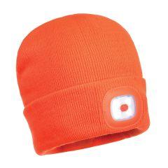 Portwest LED Orange Beanie Hat