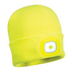 Portwest LED Yellow Beanie Hat