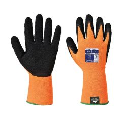 Portwest Hi-Vis Orange Black Glove Size L