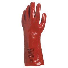 Portwest Red PVC 35cm Gauntlet Size XL
