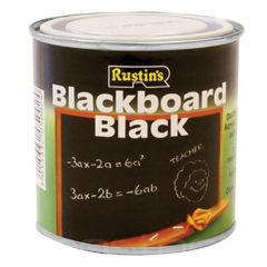 Rustins Quick Dry Blackboard Black Paint 500ml