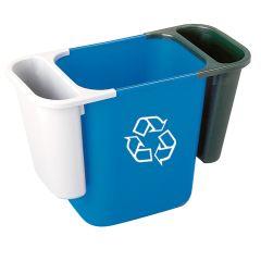 Rubbermaid Deskside Recycling Bin Black Saddle Basket