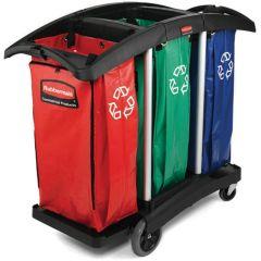 Rubbermaid Triple Recycling Cart