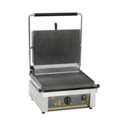 Roller Grill Ribbed Contact Grill.