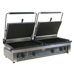Roller Grill Ribbed & Flat Contact Grill.