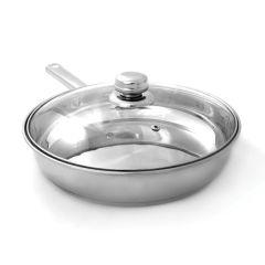 Stainless Steel Deep Frying Pan 24cm