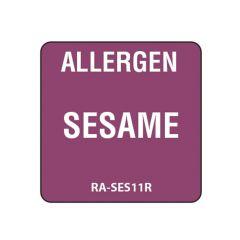 """Sesame Square Food Allergen Label 1"""""""