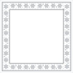 Silver & White Printed Airlaid Napkin 40cm