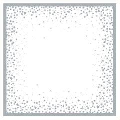 Silver & White Printed Napkin 33cm 3ply