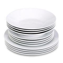 Value White 12 Piece Porcelain Dinner Set