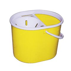 Lucy Yellow Oval Mop Bucket & Wringer 15ltr
