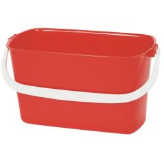 Red Oblong Bucket 9ltr