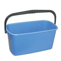Blue Oblong Bucket 9ltr