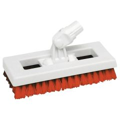 "Red SYR Interchange Deck Brush, 9.5""."