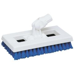 "Blue SYR Interchange Deck Brush, 9.5""."