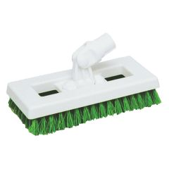 "Green SYR Interchange Deck Brush, 9.5""."
