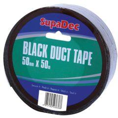 SupaDec Black Duct Tape Roll 50m