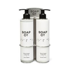 The Soap Co 300ml Pump Double Bottle Holder