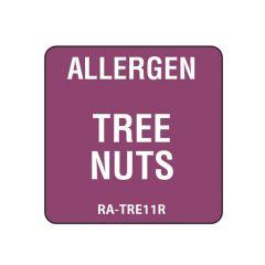 "Tree Nuts Square Food Allergen Label 1"""