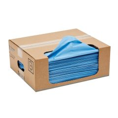 Tufwipe Blue Wiper Sheets In A Carry Pack
