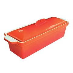 Orange Cast Iron Pate Terrine Dish 1.7ltr