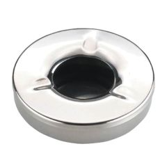 Windproof Stainless Steel Ashtray 4.5""