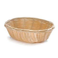 """Oval Polywicker Basket 7"""""""
