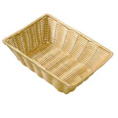 """Rectangular Polywicker Basket 16"""""""