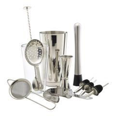 Stainless Steel Cocktail Bar Kit 11 Pieces