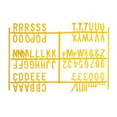 "Yellow Peg Board Letter Set 3/4"" Letters"