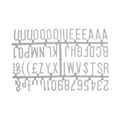 "White Peg Board Letter Set 1 1/4"" Letters"