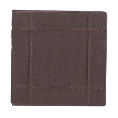Brown Faux Leather Coaster Set (4)