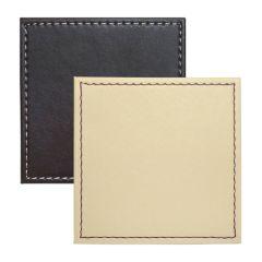 Faux Leather Reversible Choc/Cream Coaster Set