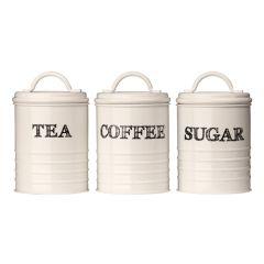 Sketch Cream Tea, Coffee & Sugar Canisters